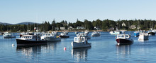 Lobster Boats Moored On A Sunday Afternoon In Summer