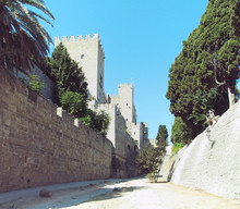 Rhodes Castle View Of Walls Ba...