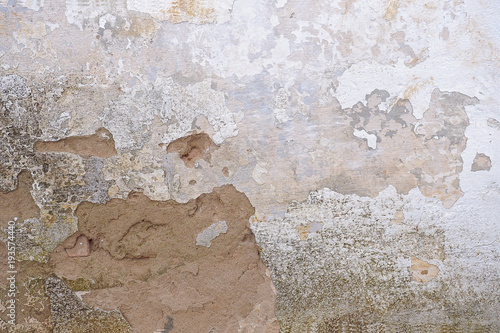 Fotografija texture of old plastered and whitewashed wall