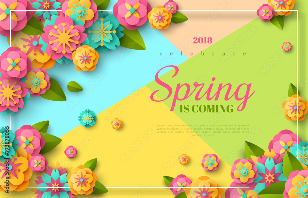 Fototapety, obrazy: Spring sale flyer