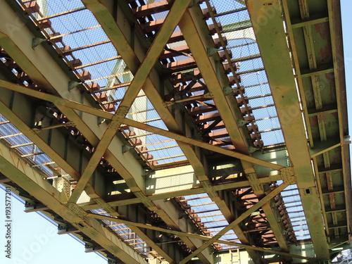 Arakawa Bridge seen from the bottom 下から見た荒川橋梁