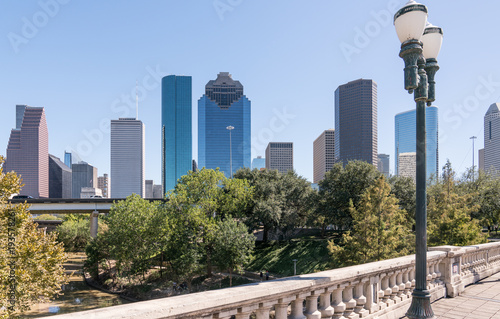 Photo  Downtown Houston Skyline
