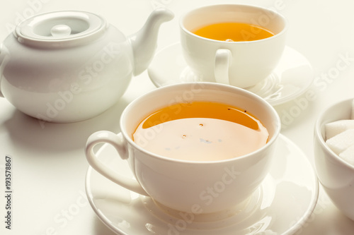 Deurstickers Thee Tea Time. Tea Background