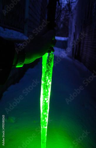 Green Laser Lightsaber Canvas Print
