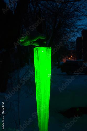 Fotografie, Tablou  Green Laser Lightsaber