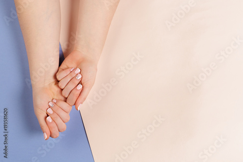 Aluminium Prints Manicure Stylish trendy female manicure.
