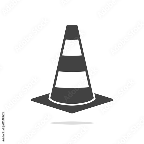 Fotografie, Obraz  Traffic cone icon vector isolated