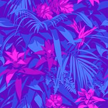 Seamless Ultraviolet Hawaiian ...