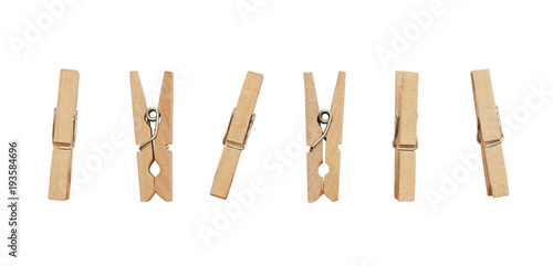 Photo  Set of decorative clothespins