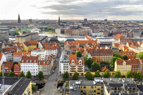 Photo Denmark - Zealand region - Copenhagen city center - panoramic aerial view of the