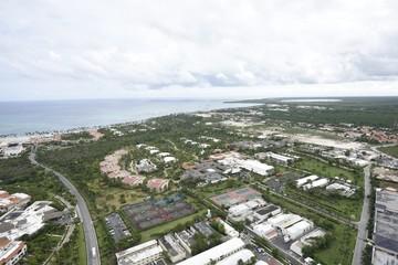 Fototapeta na wymiar panoramic view of Punta Cana