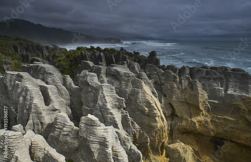 New Zealand, South Island, Westcoast, Punakaiki, Pancake Rocks