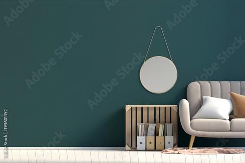 Fotografie, Obraz  Modern interior with storage box and sofa
