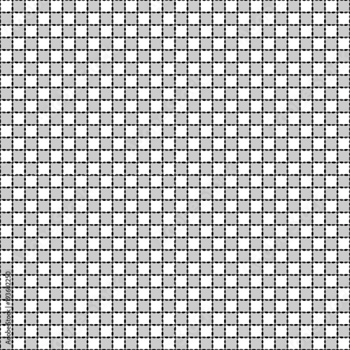 Fotografie, Obraz  Black and white distort checkered abstract background