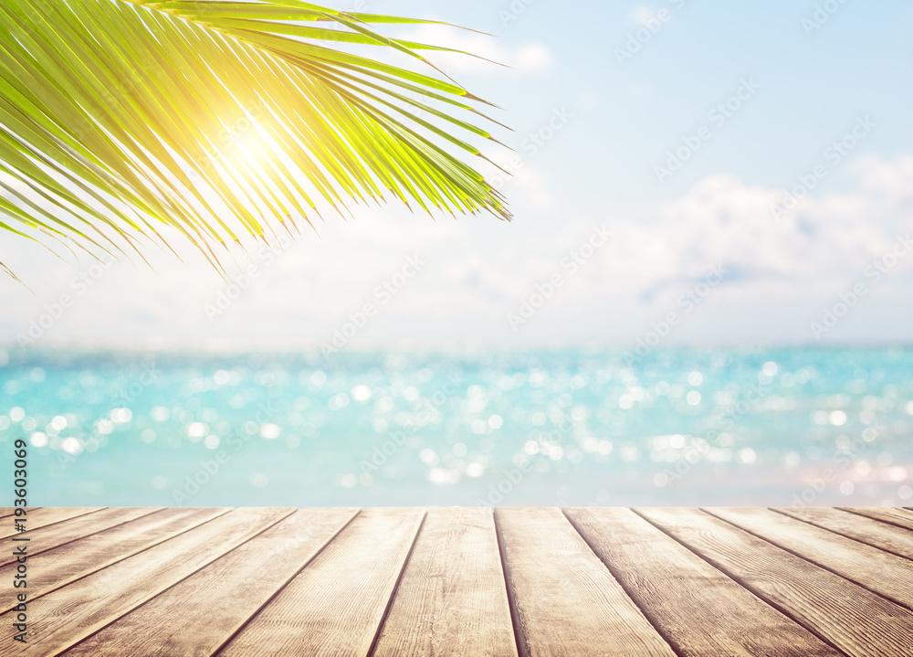 Blurred blue sky background