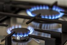 Natural Gas Burning On Kitchen...