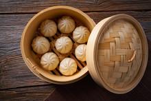 Steamed Pork Buns In Bamboo St...