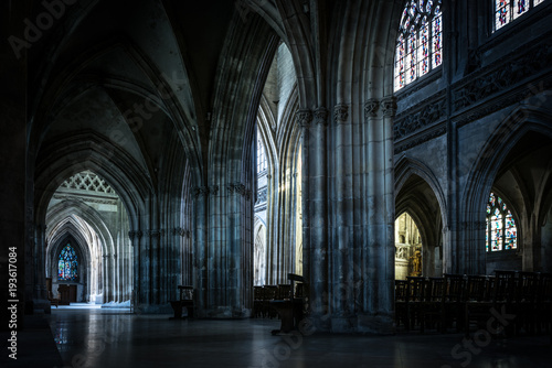 Architecture and sights of the tourist city of France Caen