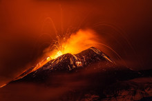 Volcano Eruption Landscape At ...