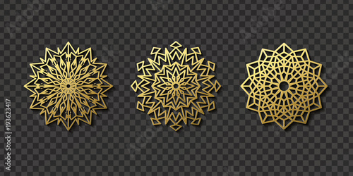 Photo  Vector realistic isolated arabic ornament pattern for decoration and covering on the transparent background