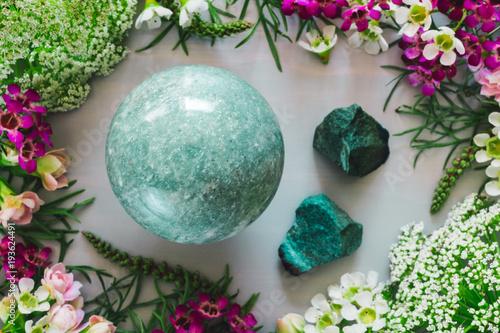 Photo  Green Aventurine in Spring