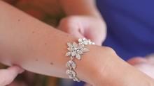 Young Girl Wears Beautiful Jewelry