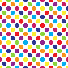Seamless Colorful Polka Dot Pa...