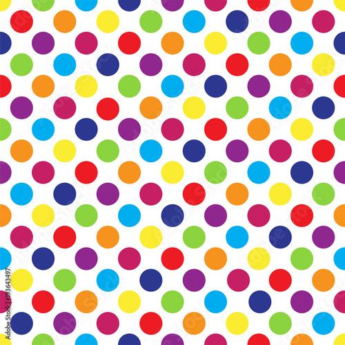 Seamless colorful polka dot...