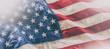 Leinwandbild Motiv USA flag. American flag. American flag blowing in the wind