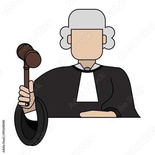 Judge avatar symbol vector illustration graphic design Canvas Print