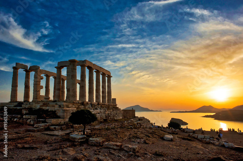 Wall Murals Place of worship Temple of Poseidon at Sounion in Greece