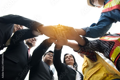 Cuadros en Lienzo Hands put together to show unity and cooperation