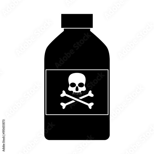Fotomural  Poison bottle isolated icon vector illustration graphic design