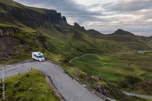 Photo  Motorhome parked at the Quiraing, Isle of Skye
