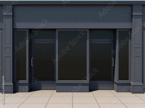 Classic shopfront in the sun - classic store front Slika na platnu