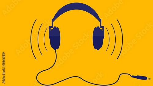Fotografía  headphones in flat design