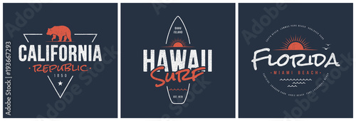 Foto  California republic, Hawaii surf and Florida designs