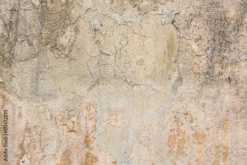 Canvas Prints Old dirty textured wall Wall fragment with scratches and cracks