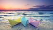 letzte Sonnenstrahlen am Strand