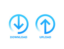 Download, Upload Icons With Ar...