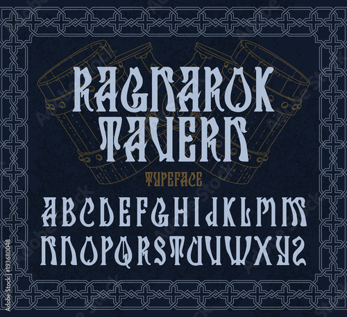 """Fotografía """"Ragnarok tavern"""" - typeface design"""