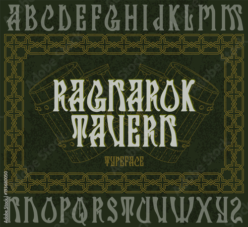 """Ragnarok tavern"" - typeface design Wallpaper Mural"