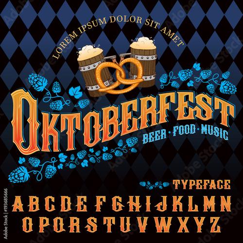 "Fotografia ""Oktoberfest beer music food"" typeface"