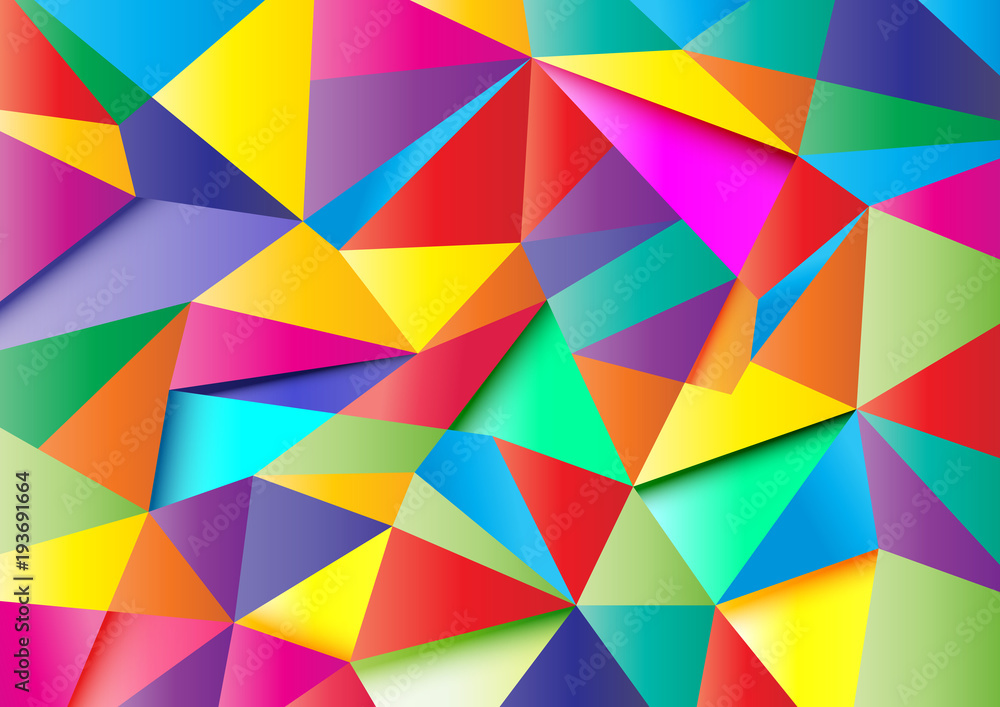 Fototapety, obrazy: colorful abstract polygon 1