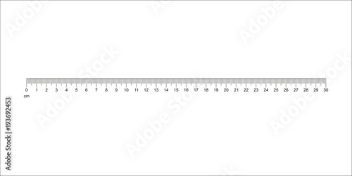 Fotomural  Ruler 30 cm
