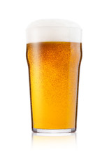 Cold Glass Of Lager Ale Beer W...