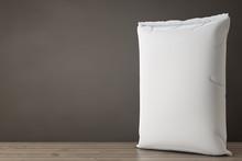 White Blank Paper Sack Cement Bag. 3d Rendering
