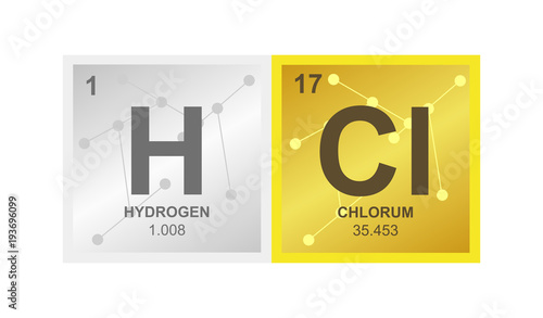 Vector symbol of hydrochloric acid or hydrogen chloride which vector symbol of hydrochloric acid or hydrogen chloride which consists of hydrogen and chlorine on the urtaz Gallery