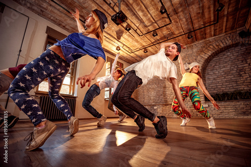 Spoed Foto op Canvas Dance School Professional people exercising dance training in studio