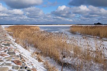 Jezioro Ptasi Raj w rezerwacie na Wyspie Sobieszewskiej